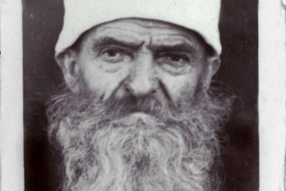 The photo is of a Bektashi dervish in Albania, 1950s