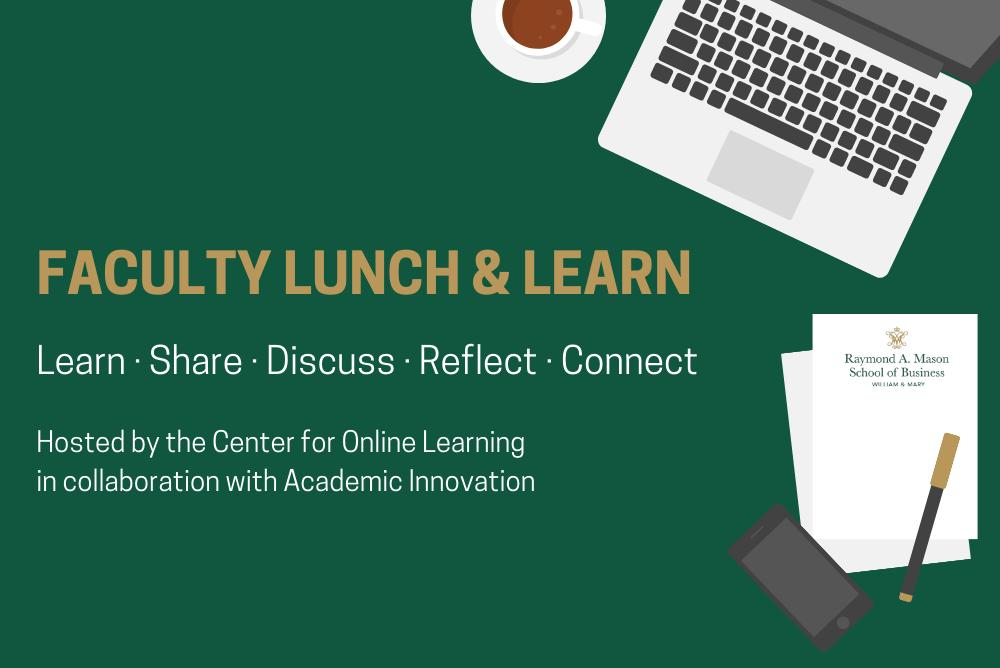 Faculty  Lunch & Learn