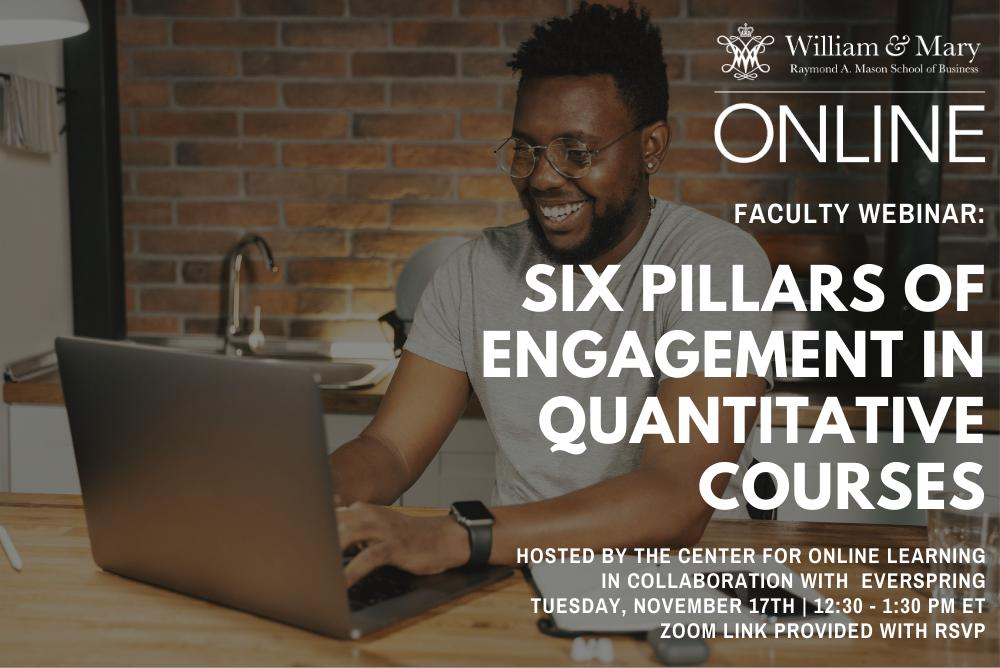 Six Pillars of Engagement in Quantitative Courses