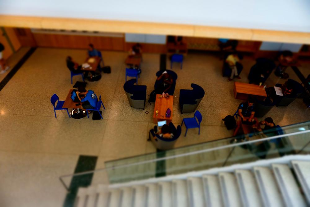 Students in Commons Area