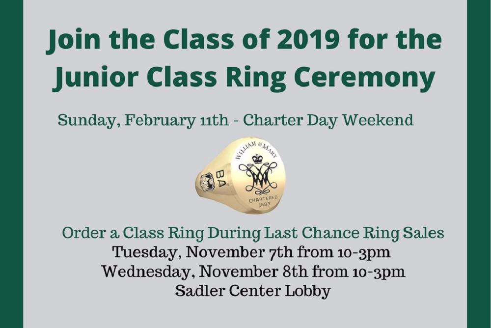 Junior Class Ring Ceremony