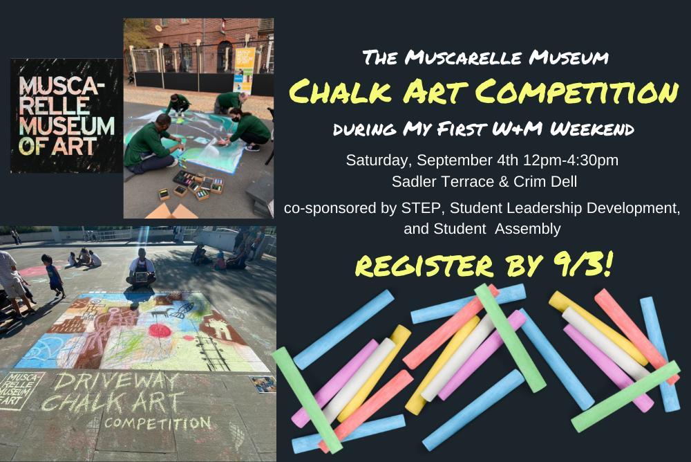 Muscarelle Museum Chalk Art Flyer
