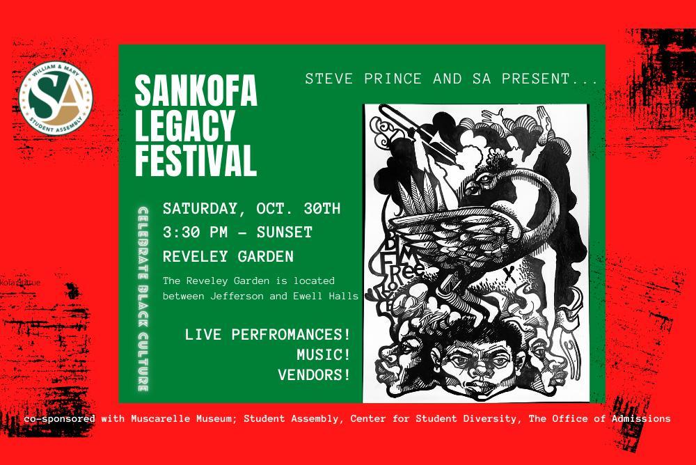artist print for sankofa legacy festival