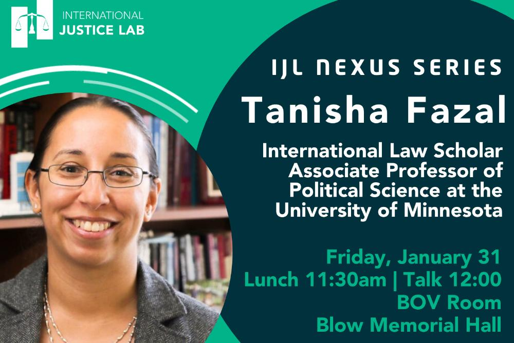 IJL Nexus Series featuring Tanisha Fazal
