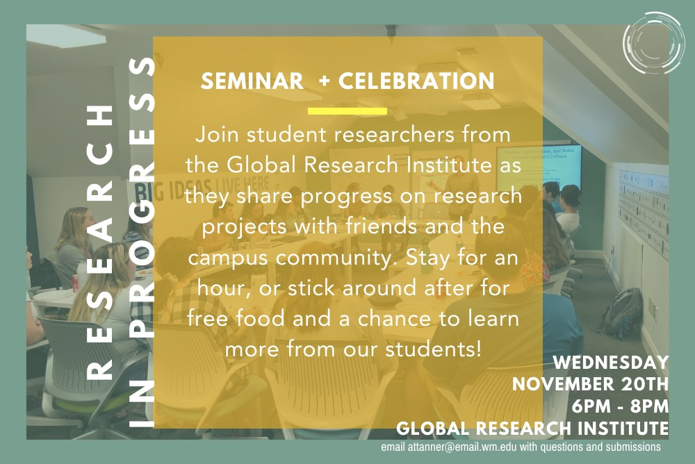 Research in Progress Seminar and Celebration
