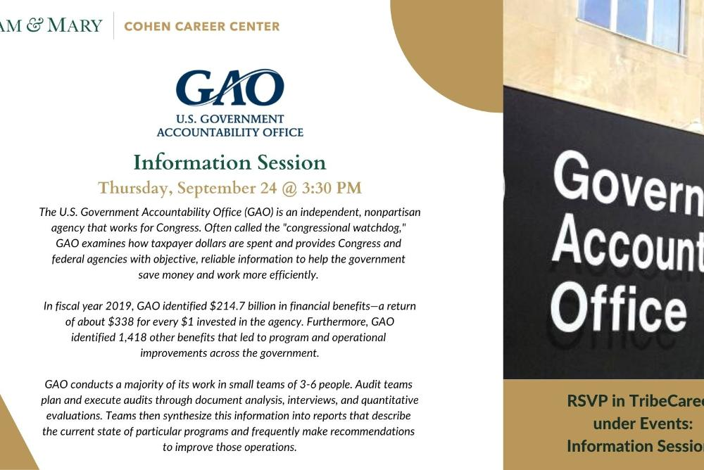 Info Session: Government Accountability Office