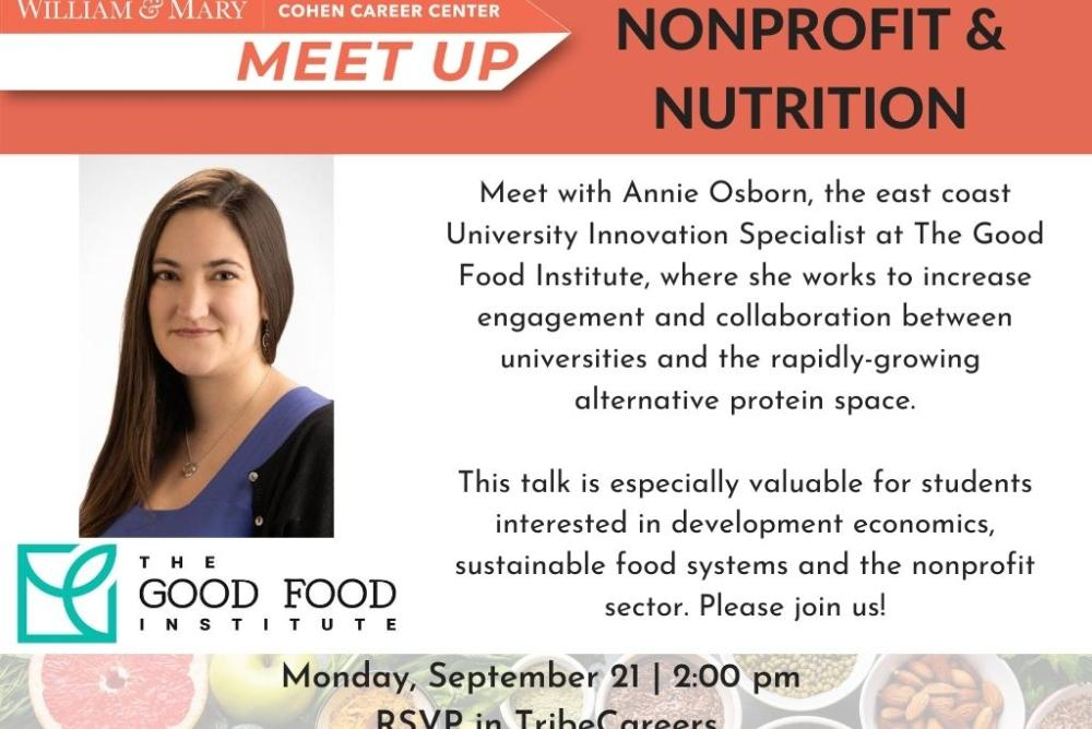 Virtual Meet Up: Nonprofit & Nutrition