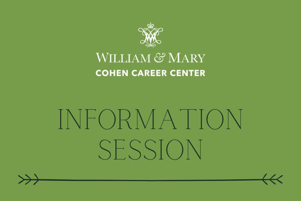 Information Session Logo