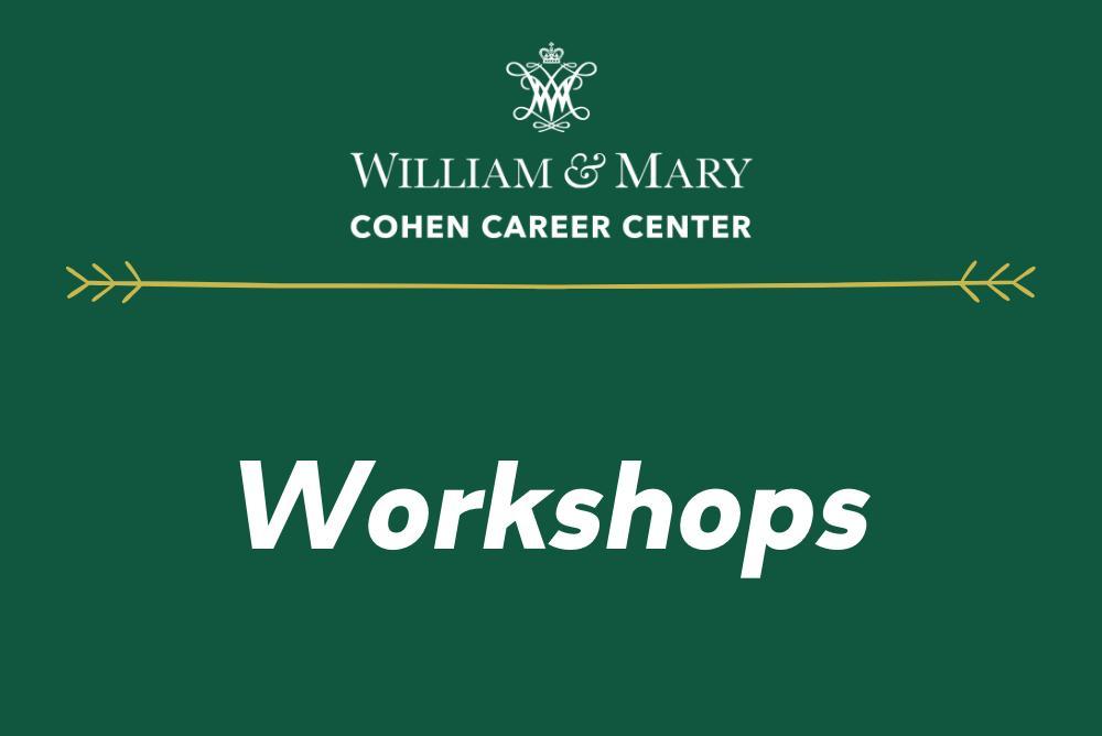 Workshops at Cohen