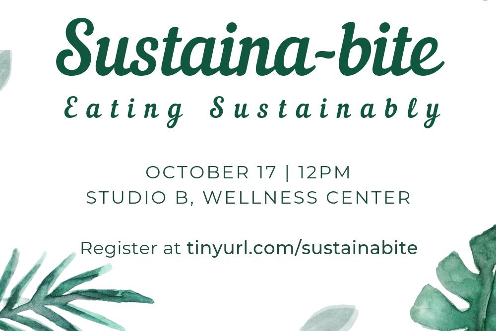 Sustaina-bite: Bite-sized sustainability info with lunch