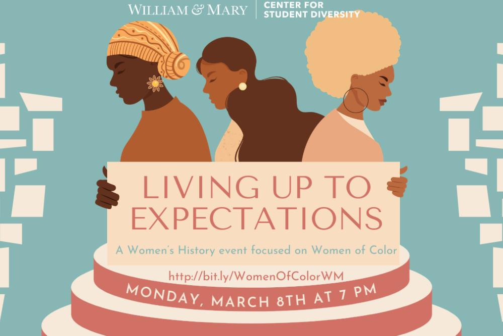 Happy Women's History Month!  The Center for Student Diversity will host a Women's History Month event focused on women of color.