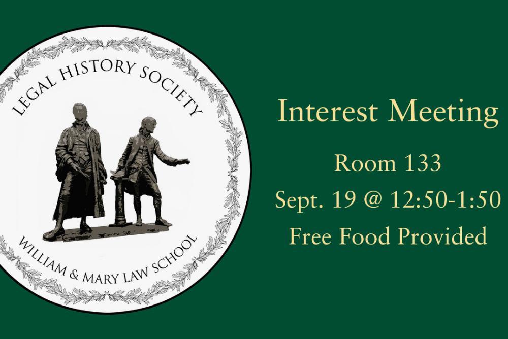Interest Meeting event flyer