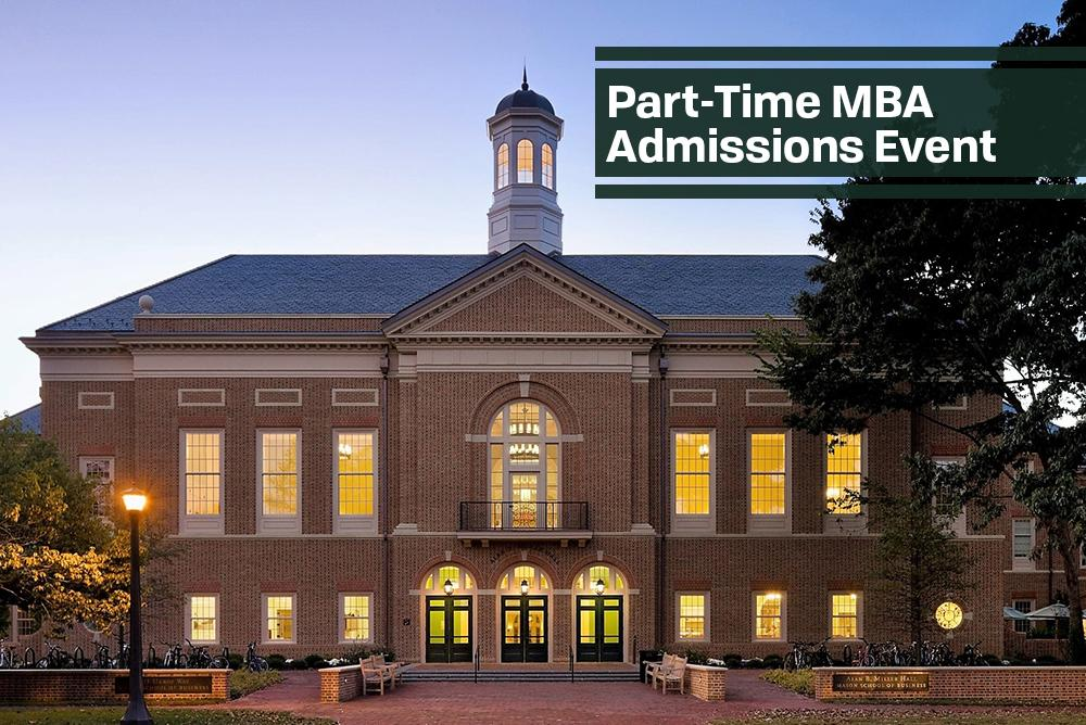 Part-Time MBA Admissions Event
