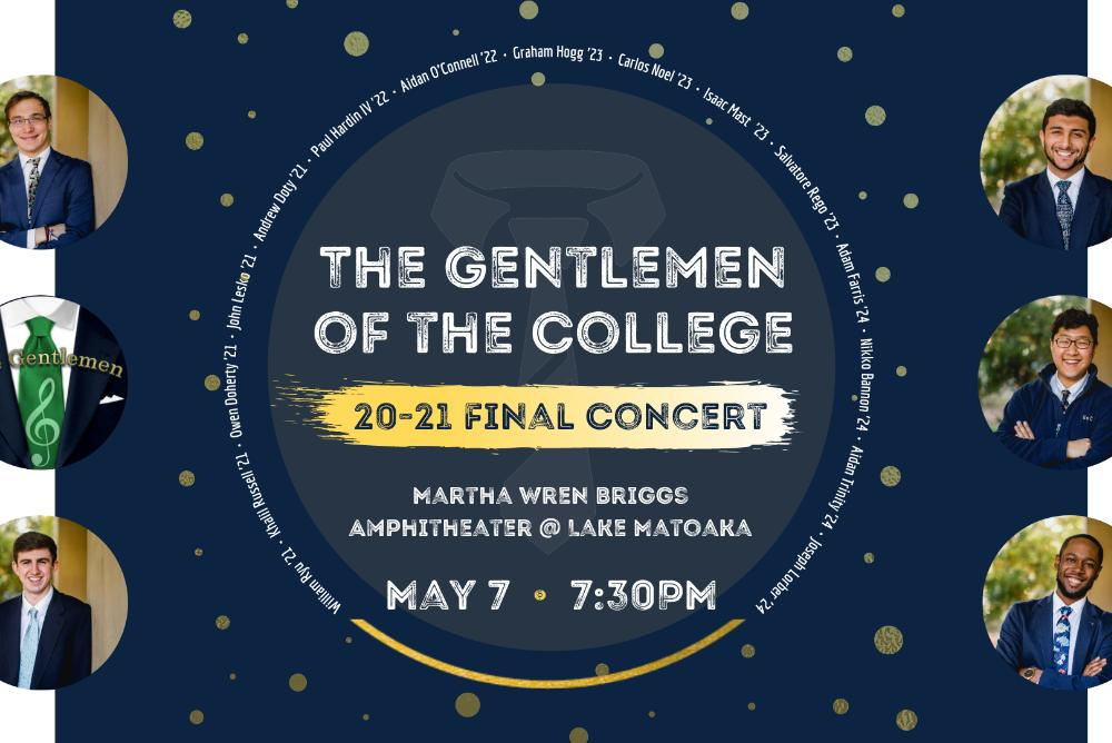 Event Flyer - Gentlemen of the College Final Concert (7:30pm Friday, May 7)