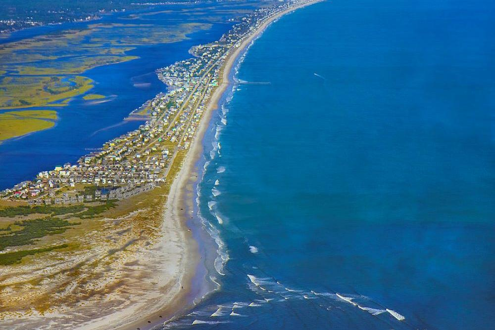 Photo of a barrier island