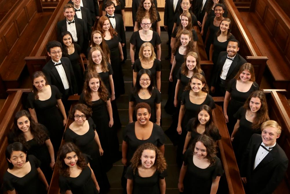 The Choir of the College of William and Mary preparing to undertake its annual spring tour March 15-20, 2019.