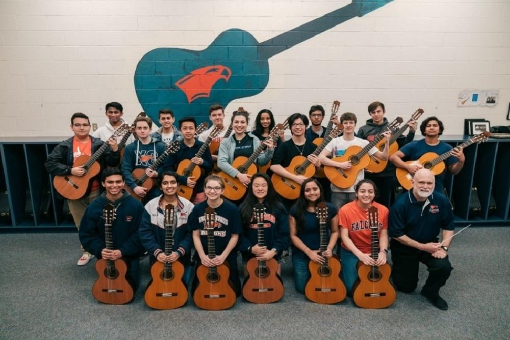 The Falcon Guitars of Briar Woods High School will give a concert at The College of William and Mary April 4, 2019 at 2 PM in Ewell Re