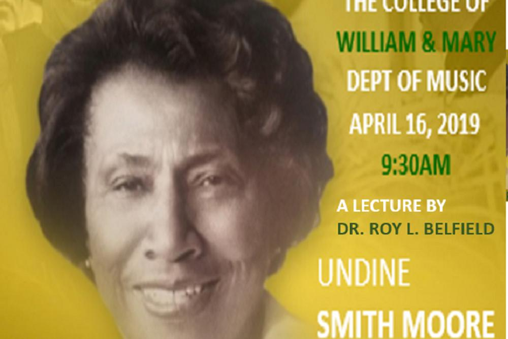 Undine Smith Moore (1904-1989), an African American educator and composer.