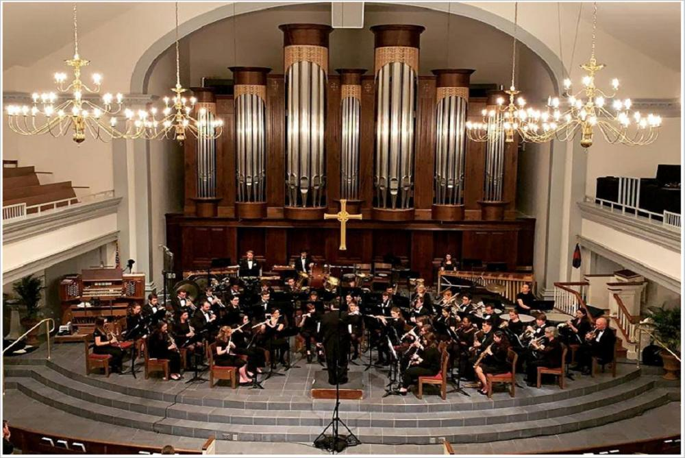 The Wind Ensemble at the Williamsburg Presbyterian Church