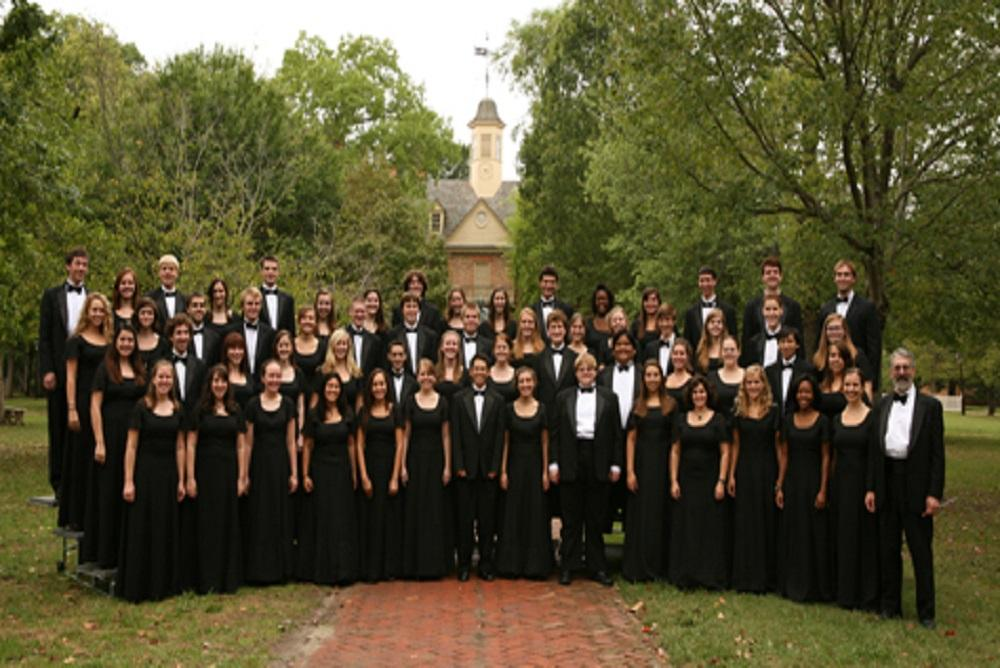 The Choirs of William and Mary preparing for the Winter Concert