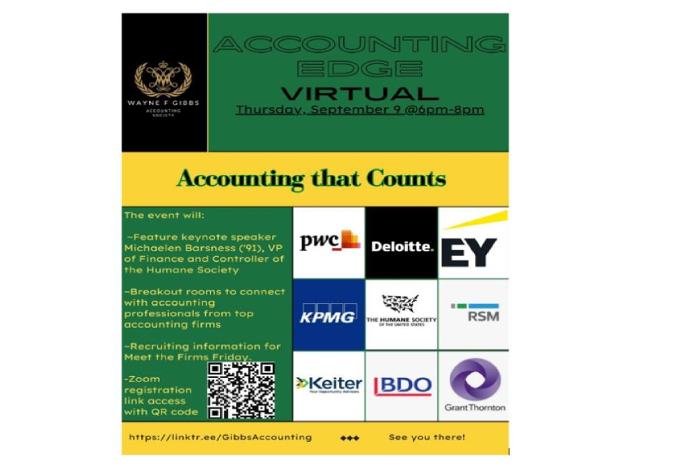 Accounting Edge 2021 Poster