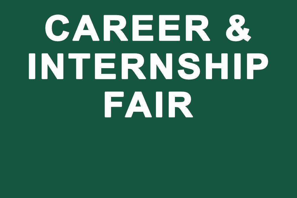 Text image Career and Internship Fair