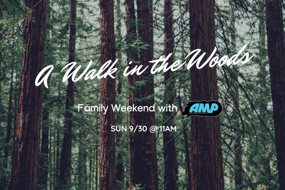 A Walk in the Woods flier