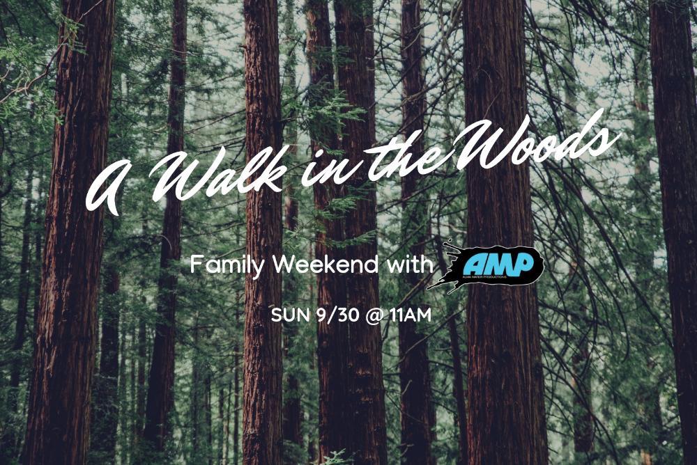 A Walk in the Woods flier
