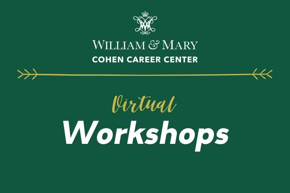 Cohen Career Center Virtual Workshops