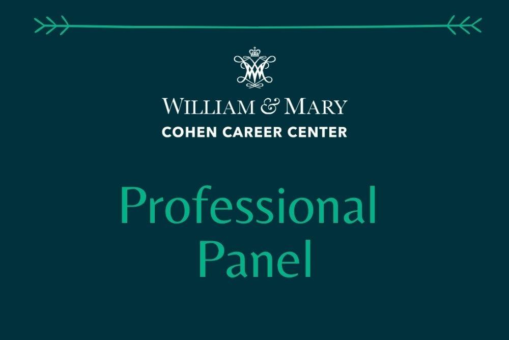 Cohen Career Center Professional Panel