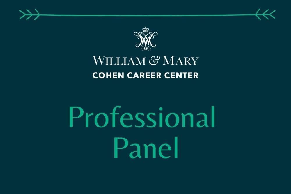 Cohen Career Center Professional Panel