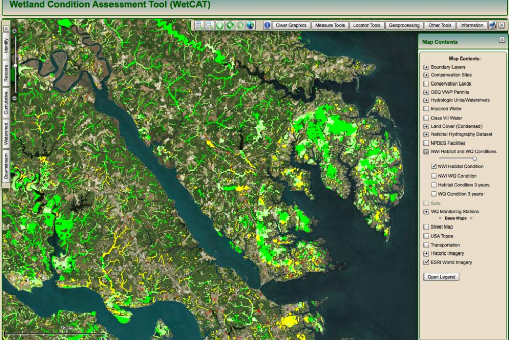WetCAT allows users to assess how development within a watershed will impact a wetland's health.