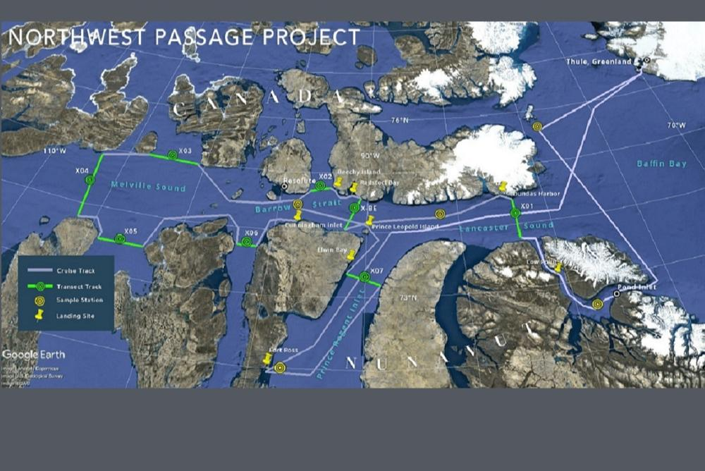 Proposed 18-day cruise track for the 2019 NPP expedition.