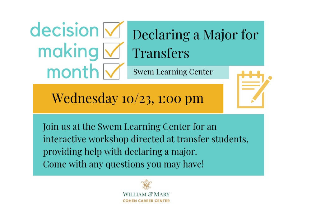 Decision Making Month: Declaring a Major for Transfer