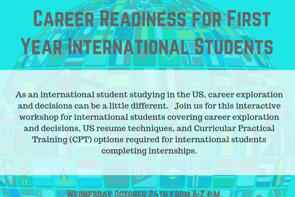 Career Readiness for First Year International Students