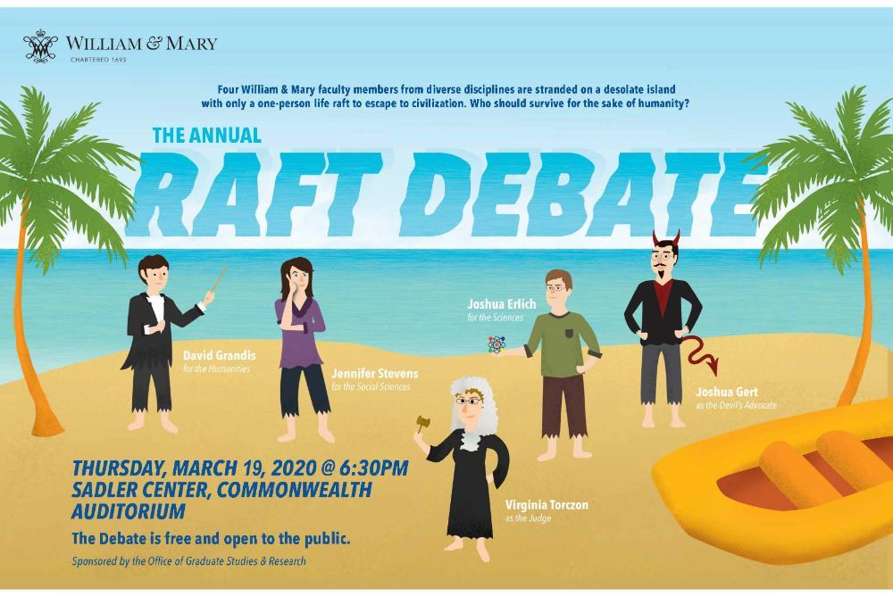2020 raft debate poster