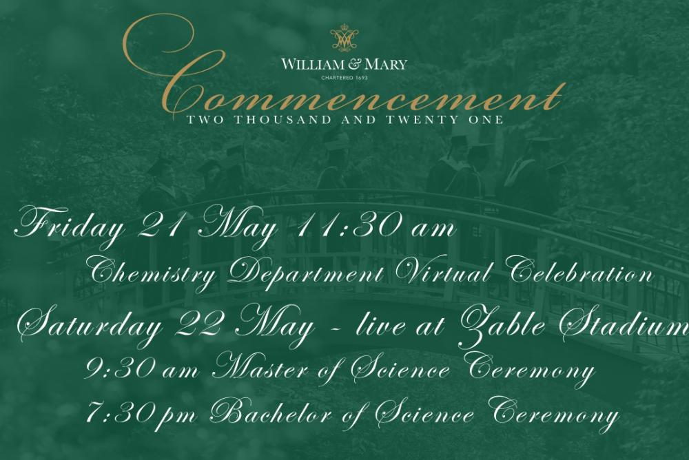 Chemistry Department Commencement Events slide