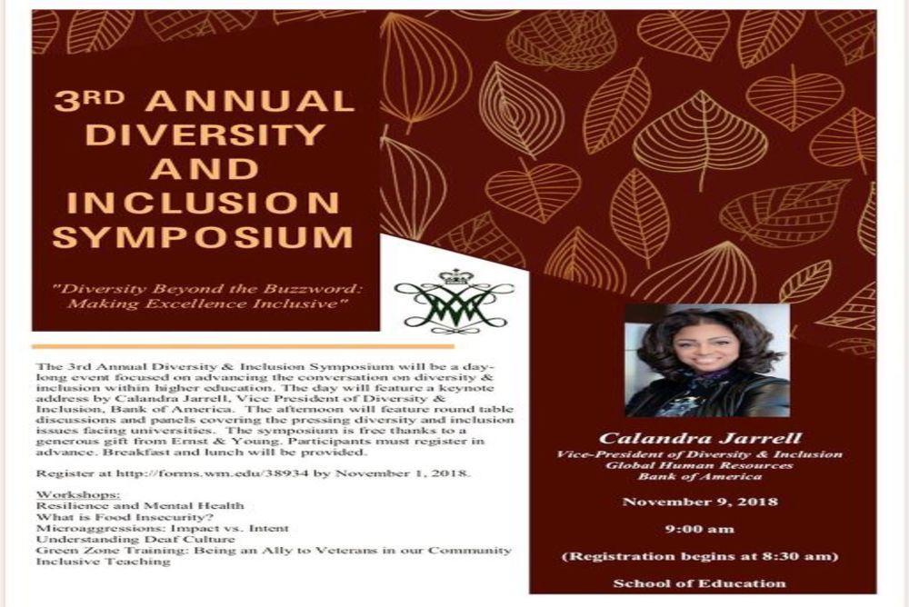 2018 Diversity Symposium Flyer