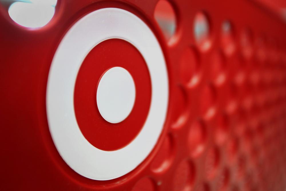 target logo, shopping cart, red, target