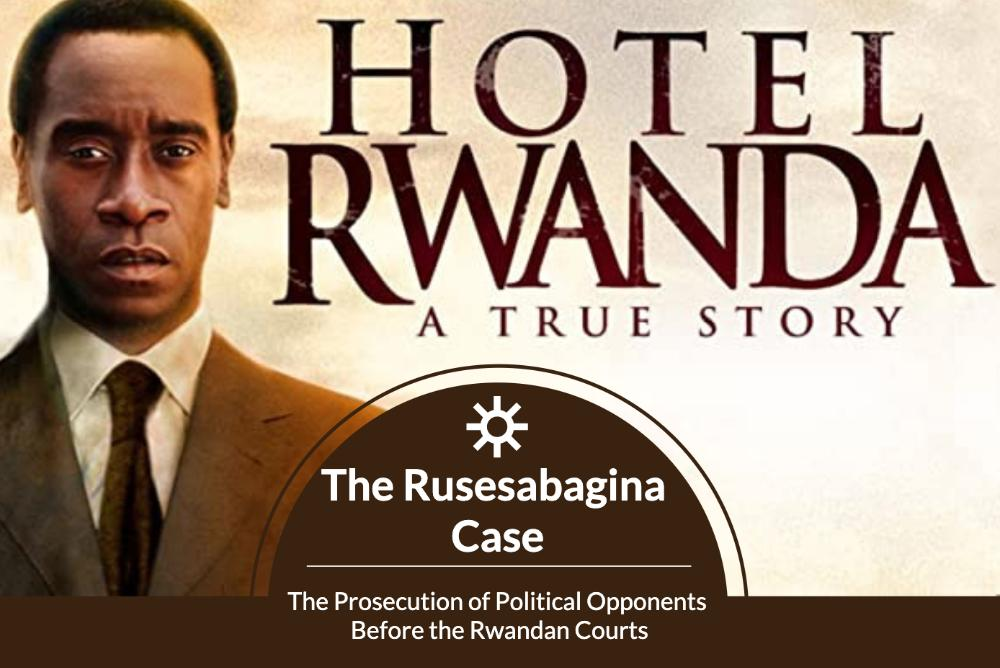Poster for Speaker with image of Paul Rusesbagnia from Hotel Rwanda
