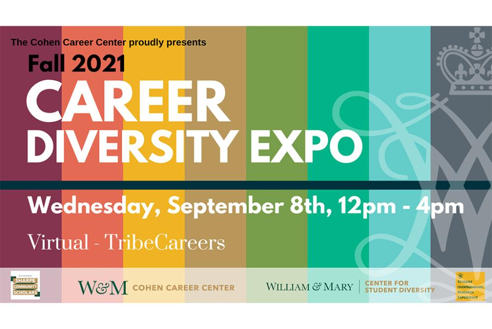virtual career diversity expo hosted by the Cohen Career Center