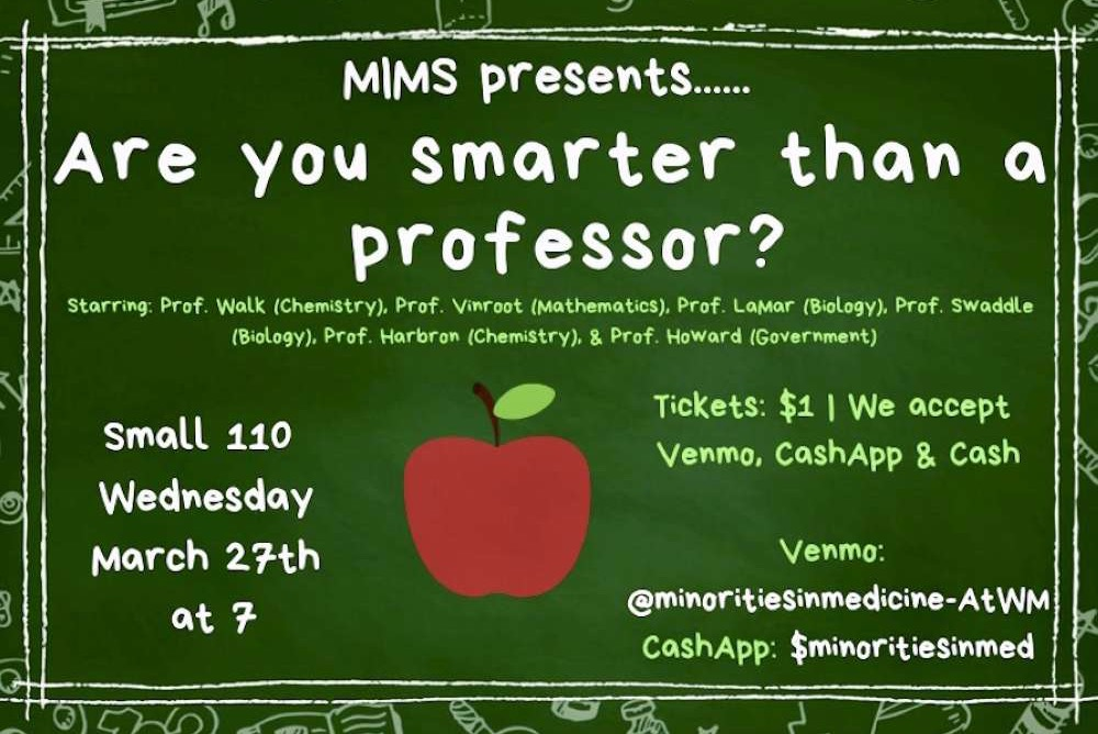 "MIMs presents ""Are you smarter than a professor?"", a game show competition where your favorite professors will go head to head with your classmates and friends!"
