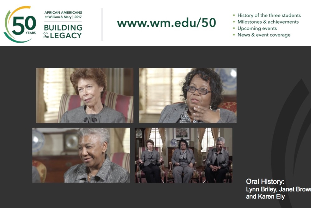 The Legacy Three:  Janet Brown Strafer '71, M.Ed. '77, Karen Ely '71, Lynn Briley '71