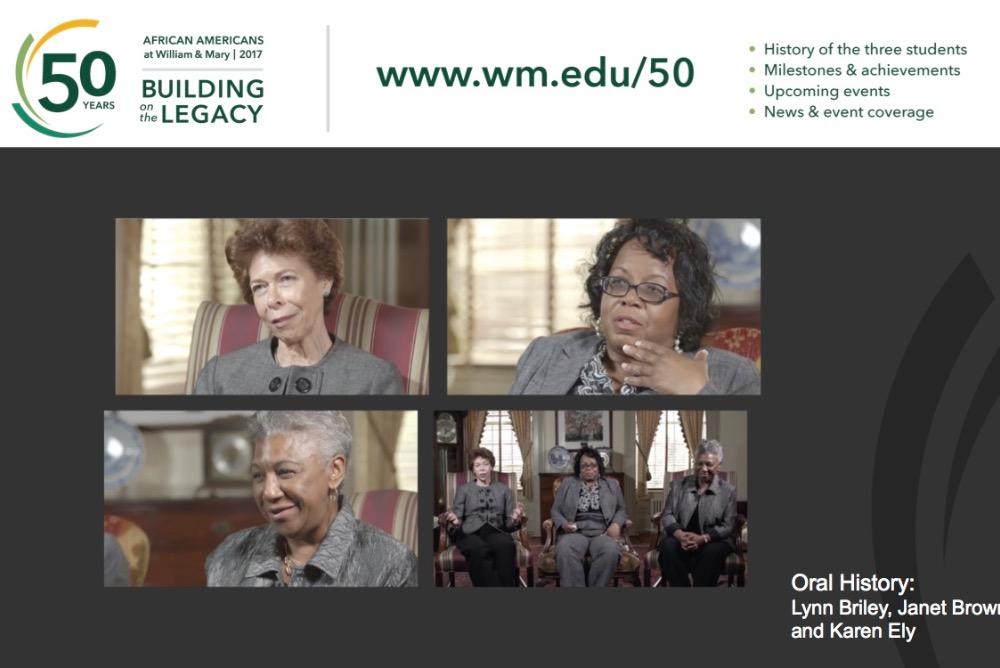 The Legacy Three:  Janet Brown Strafer '71, M.Ed. '77, Karen Ely '71, Lynn Briley '71