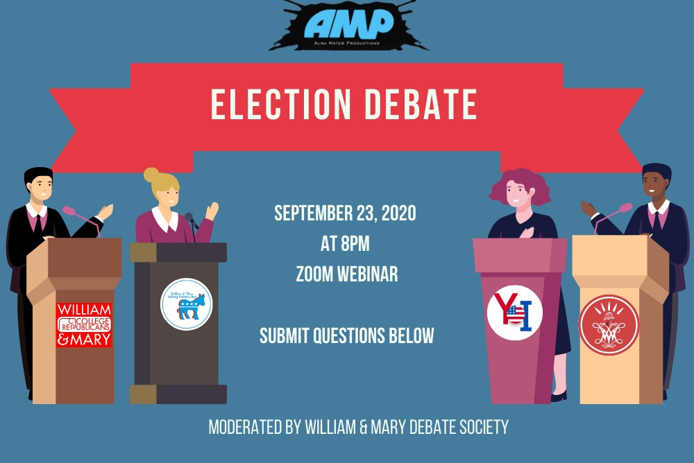 AMP / Election Debate 2020 Flyer