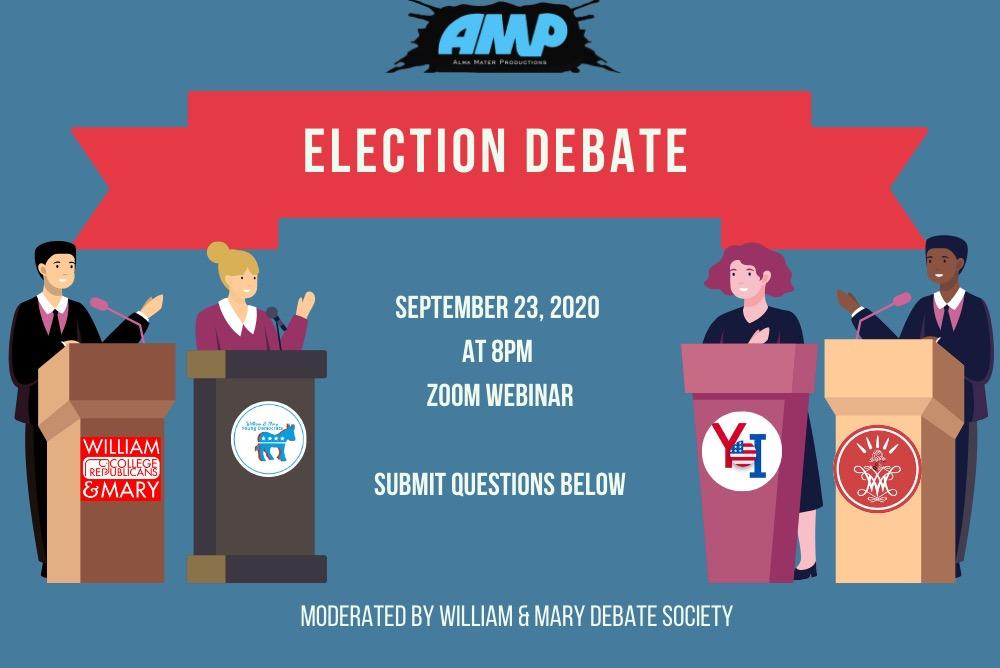AMP / Election Debate 2020 Flyer