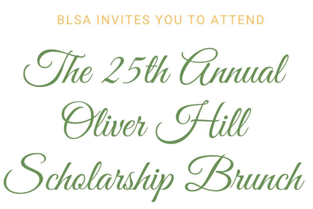 Oliver Hill Scholarship Banquet