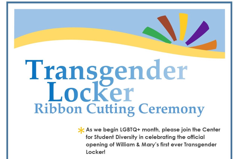 Transgender Locker Ribbon Cutting Ceremony Flyer