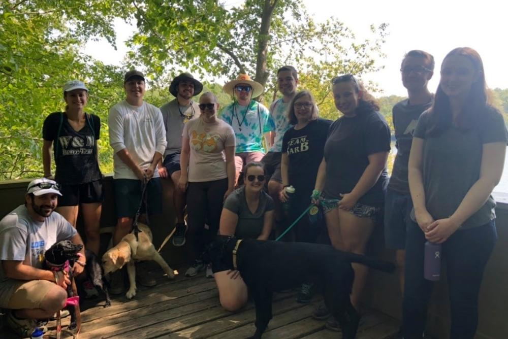 Participants in the fall 2019 Hike with Hounds