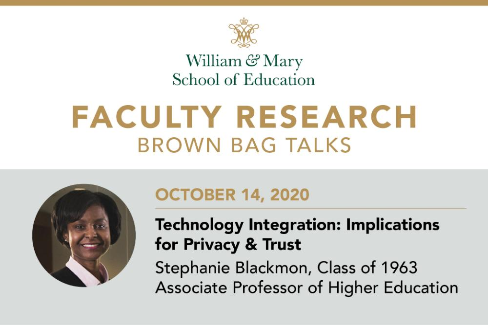 Faculty Research Brown Bag: Stephanie Blackmon